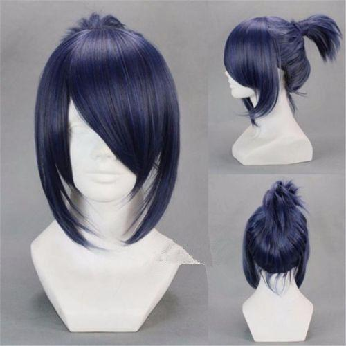 New Japan Anime Future City NO.6 Nezumi Anime Short Dark Blue Cosplay Hair Wig