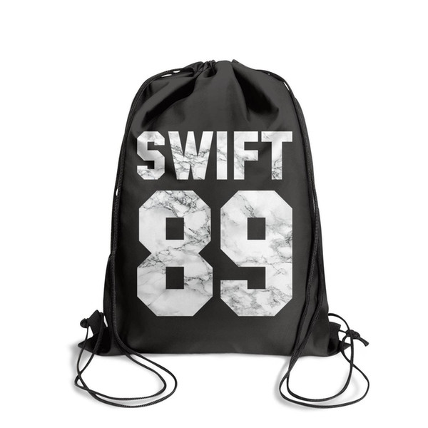 Sports backpack Taylor Swift 1989 White marble cool vintage Classicpackage adjustable limited edition Bundle school Travel Beach pull string