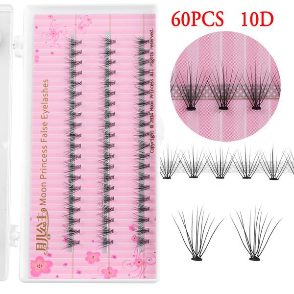 60pcs/Box 0.10mm Professional Makeup Individual Cluster Eye Lashes Grafting False Eyelashes Handmade Eyelash Extension Tools