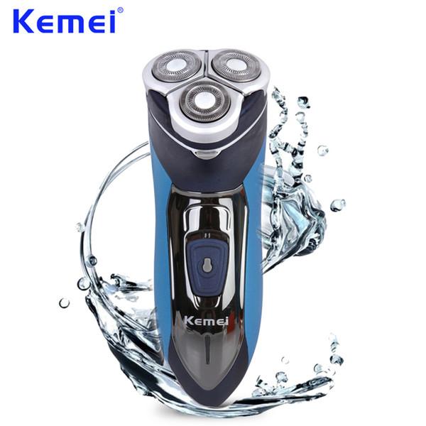 KEMEI Waterproof Rechargeable Portable Mens Electric Shaver Triple Blade Electric Razor navalhas Shaving Machine KM-7390