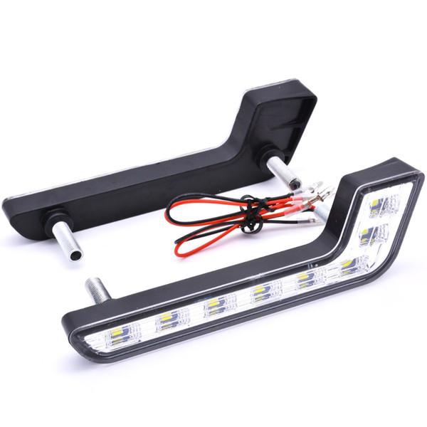 2X 6led xenón LED del coche universal auto DRL que conduce corriente diurno de la lámpara de la lámpara principal luz de niebla DRL kit luz blanca 12V