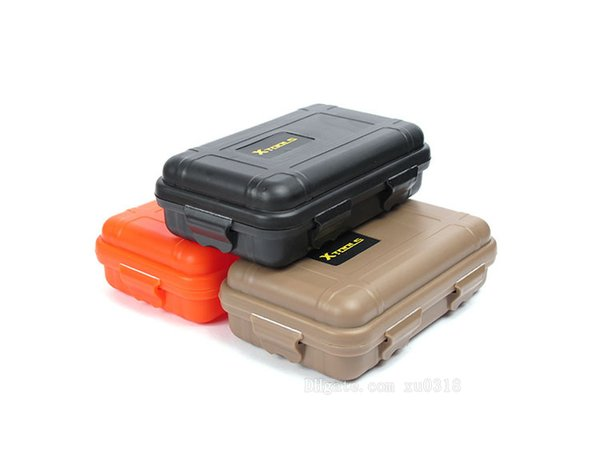 Hot Small Size Outdoor Plastic Waterproof Airtight Survival Case Container Camping Outdoor Travel Carry Storage Box Customized LOGO Label