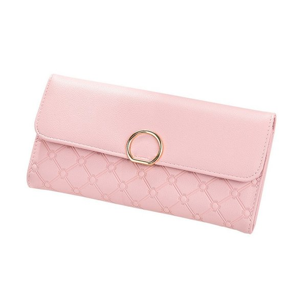Women wallet porte photo new luxury designer big long phone purse portafoglio donna grande wallets pink carteira mujer portfel