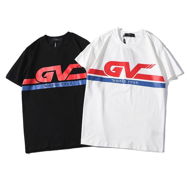 2019 Diseñador de Verano Camisetas Nuevos Hombres Tops Letra de Marca Camiseta Para Hombre Ropa Marca de Manga Corta Camiseta de Las Mujeres Tops S-2XL