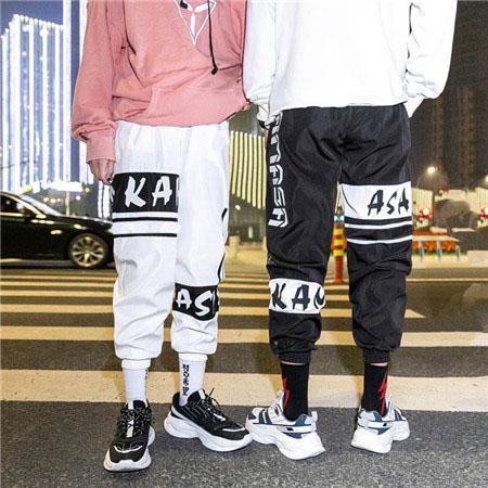 Calças de grife de moda para homens marca faixa calças corredores com letras homens de luxo sweatpants com cordão stretchy corredores clothing qsl198221