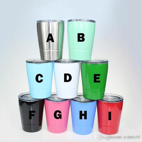 385da322c9a 8.5oz wine glasses Stainless Steel Tumbler 8.5oz cups Travel Vehicle Beer  Mug non-