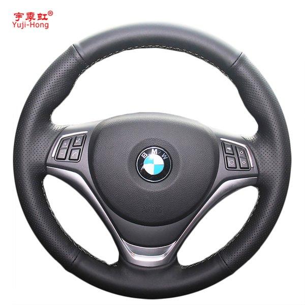 PONSNY искусственная кожа автомобиля руль охватывает чехол для X1 E84 2014 2015 ручной работы авто рулевое покрытие