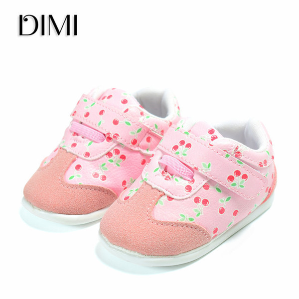 DIMI 2018 New Fashion Sneakers Newborn Baby girl Shoes Genuine Leather Boys Infant Toddler Soft Sole First Walkers Baby Shoes