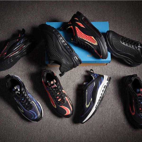 2020 di vendita caldi Mens Cuscini Correre da jogging scarpe da Triple Black Navy Rosso Blu Rosso Tennis scarpe da uomo Scarpe da ginnastica scarpe da tennis Sport Dimensioni 40-47