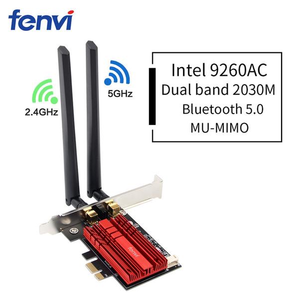 Dual Band Desktop PCI E Intel 9260 8265/8260 802.11 2.4G/5Ghz WiFi Bluetooth PCI Express Wireless WiFi Adapter Dual Band Wireless-AC