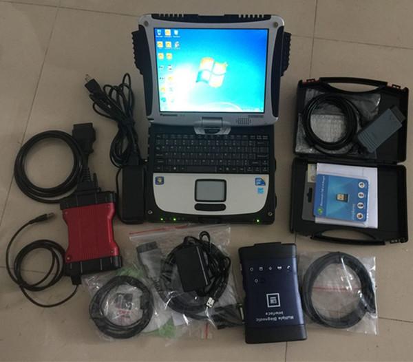Outil de diagnostic 3in1 VAS5054A + vcm2 pour Ford pour scanner automatique Wi-Fi MDI wifi GM + 1 To disque dur en utilisation de portable CF-19