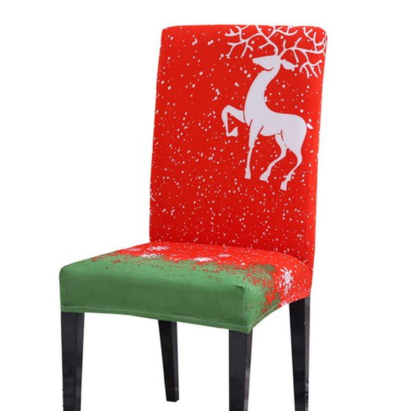 Christmas Decoration Kitchen Chair Cover Elastic Fabric Home Stretchable  Fashion Printed Dining Room Folding Removable Hotel Slipcover For Sofa  Couch ...