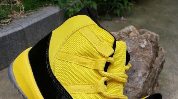 the latest a3b5e 94ef0 Wholessale New 11 XI HIGH Yellow Black Dark Blue MEN Basketball Shoes 11s  Sports Sneakers Outdoor Trainers 2019 TOP Quality Size 7 13 Jordans  Sneakers ...