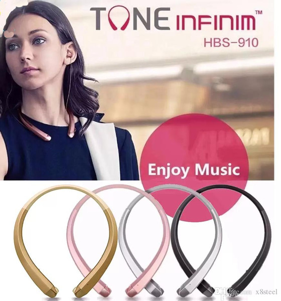 High Quality hbs910 Bluetooth Headphones Headset Earphone Sports 4.1 CSR Chip With Package for iphone 7 8 plus x xs max xr s8 s9 HBS 910