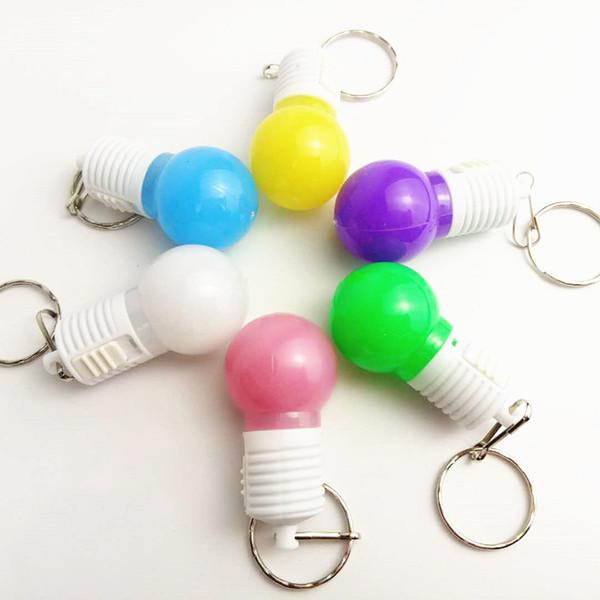 Manufacturer's Hot Selling LED Flash Key Keys, LED Light bulb pendant, Creative and Practical Activity Gift