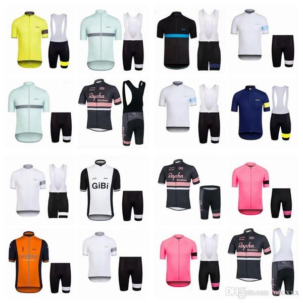2018 neue heiße RAPHA Team Kurzarm Professional Bike Jersey Bike Shirt / Bike BIB Shorts Herren Jersey A42920