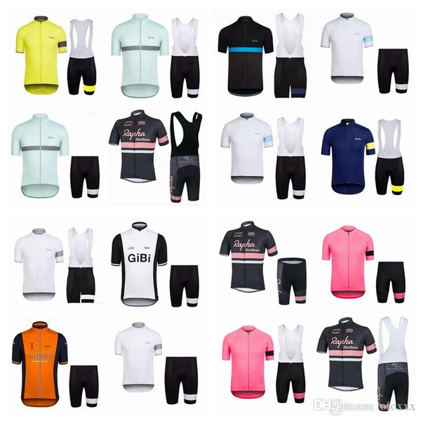 2018 Nuevo Hot RAPHA Team Camiseta de manga corta para bicicleta profesional Camiseta para bicicleta / Bicicleta BIB Shorts Jersey para hombres A42920