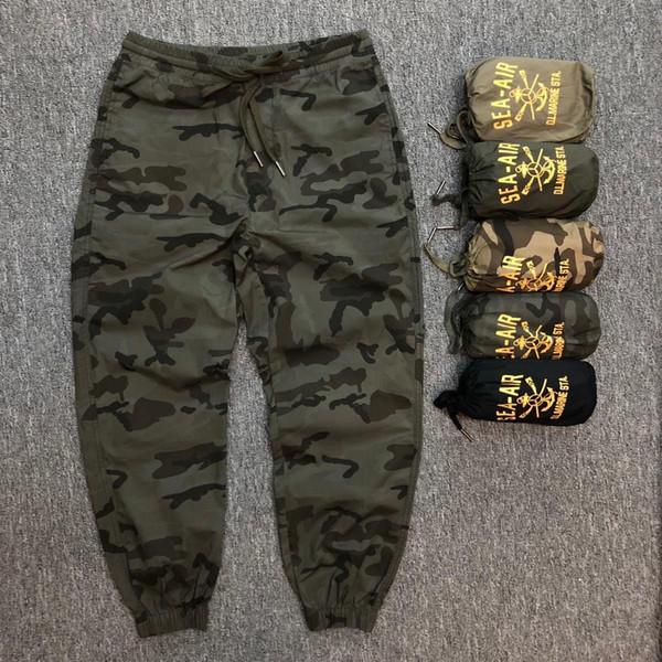 Erkek Tasarımcı Pantolon Klasik Kamuflaj Tarzı 6 Renk Yaz Hafif Banliyö Pantolon Yıkama Jogging Yapan Pantolon Beş yıldız Konfor ABD Boyutu 29-36