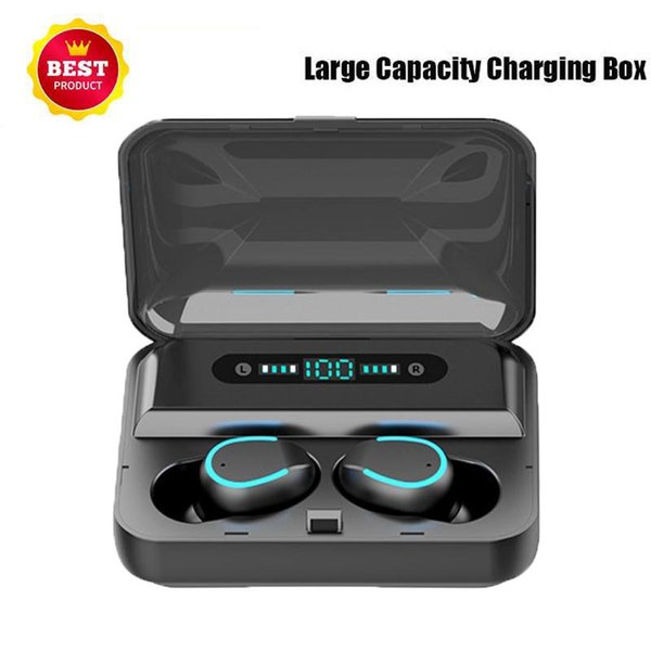 1 PCS New Hot F9 TWS Wireless Earbuds Earphones BT5.0 Wireless Charging Case Binaural Stereo Earbuds F9-5 Bluetooth Headset