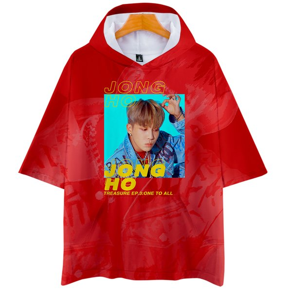 KPOP ATEEZ NEW Album TREASURE EP.3 : One To All Hooded Men/Women Harajuku hoodie shirt Short Sleeve Clothes