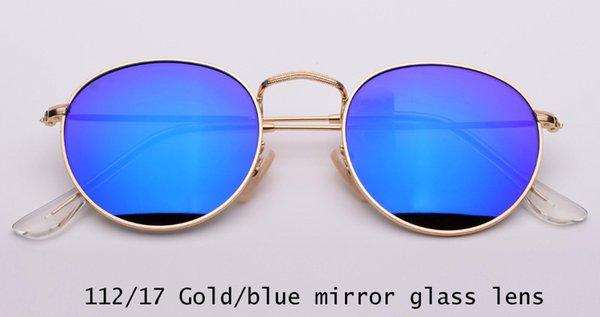 112/17 gold / blaue Spiegellinse