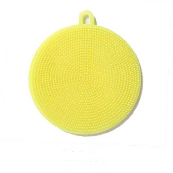 Multifunction Silicone Dish Bowl Cleaning Brush Scouring Pad Pot Pan Wash Brushes Kitchen Cleaner Washing Tool 171010