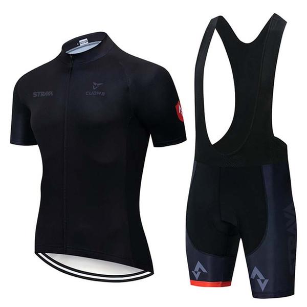 New 2019 STRAVA Cycling Short Sleeves jersey (bib) shorts sets Breathable Racing Bicycle Cycling Clothing K041207