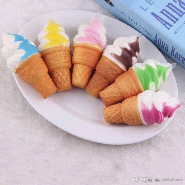 ht hxldoor Wholesale- Cute Cream Scented Ice Cream Charm Kid Toys Gift Bread Baby Pretend Play Toy Squeeze Fun Joke Rising Toys Random Color