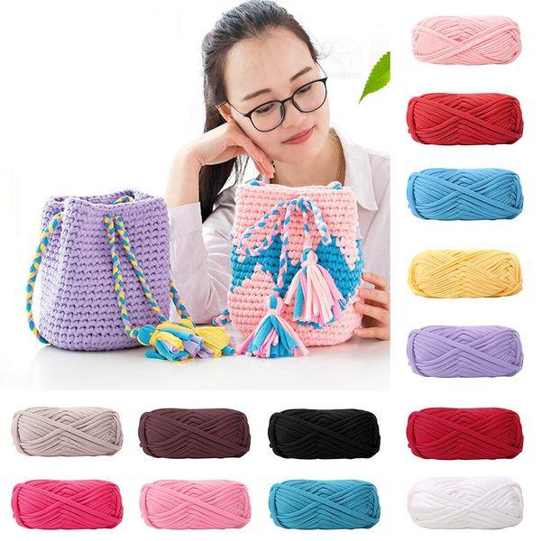 Nuovo filo per maglieria in stoffa fatta a mano a più colori per borsa per tappeto intrecciata fai-da-te