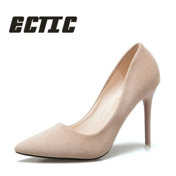 Designer Dress Shoes ECTIC fashion lady thick high heel summer women leather breathable Shallow mouth patry sexy pump QQ-028