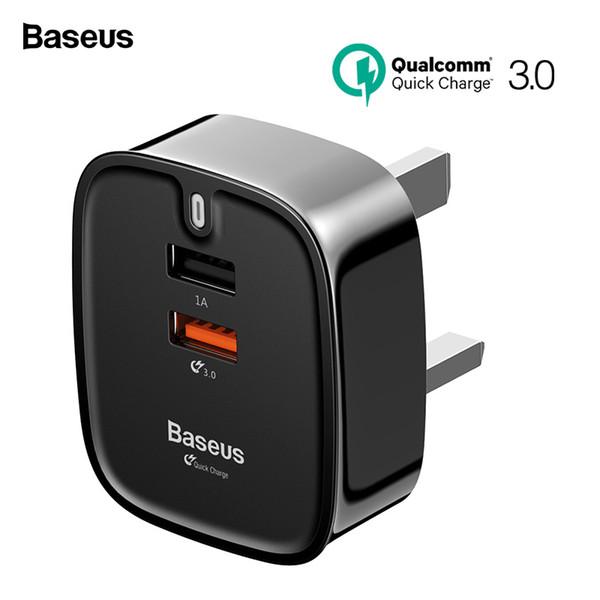 Baseus Usb Chargeur Charge Rapide 3.0 Uk Plug Double Port Voyage Chargeur Mural Adaptateur Qc3.0 Chargeur de Téléphone Portable Pour Iphone Xiaomi T190627