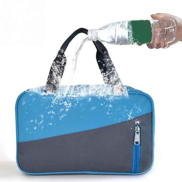 Borsa sportiva con cerniera per borsa da spiaggia impermeabile in nylon grande capacità unisex # 86303