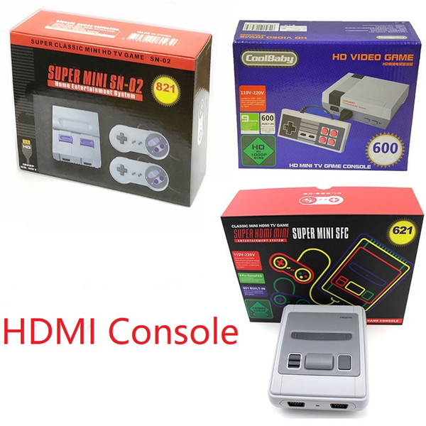 Christmas Present Scanner.Hdmi Tv Game Console 621 821 Coolbaby 600 Model Newest Video Game Consoles For Sfc Snes Nes Hd Games Console Christmas Gift Portable Gaming Consoles