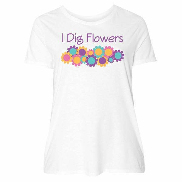 Inktastic Gardening Flower Gardener Gift Women's Plus Size T-Shirt Daisy Garden Funny 100% Cotton T Shirt fear cosplay liverpoott tshirt