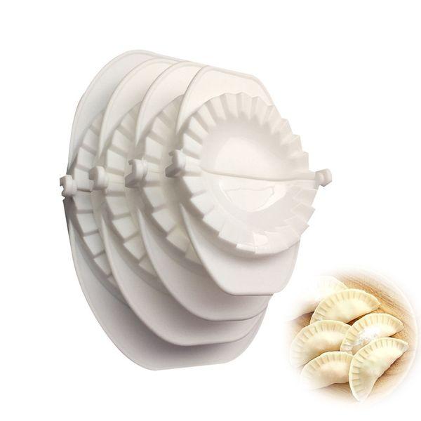 4 unids / set Prensa Ravioli Masa Pastelería Pastel Dumpling Fabricante Gyoza Molde Herramienta de Molde 4 Tamaño Fácil Ecológico Dumpling Molde Herramientas de Cocina