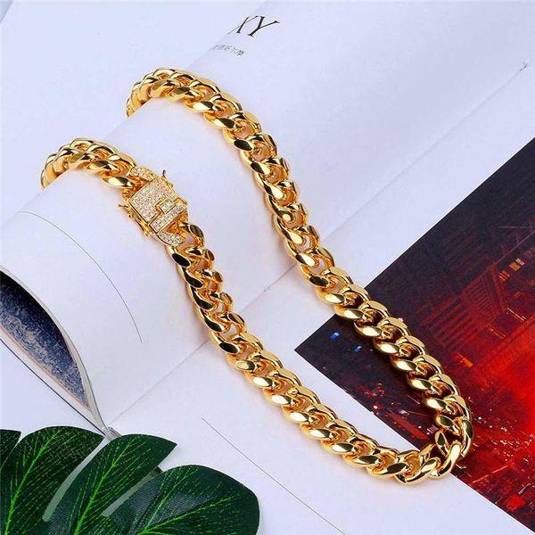 Eis Aus CZ Kette Hip Hop Link Halskette Gold Silber Bling Zirkonia Halsketten Luxus Hiphop Schmuck
