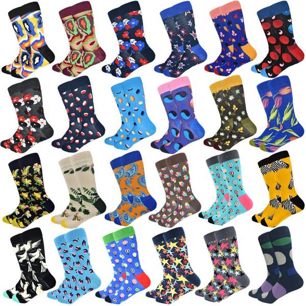 2018 Promoción Nylon Calcetines Sokken Calcetines de los hombres Calidad de algodón largo Colorido Fun Factory Soporte directo al por mayor y al por menor