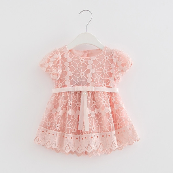 Summer Peter Pan Collar Vintage Style Baby Kids Cotton Floral Print Princess Party Girls Dress Newborn Infant Clothes 0-2t Q190518