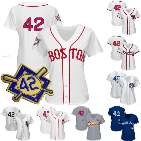 Womens 2019 Jackie Robinson dia Jersey Texas Boston Cincinnati Toronto Detroit São Francisco Seattle Nova Iorque Toronto Baseball Jerseys