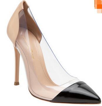 Stockxx Femmes Chaussures Même Pour Gianvito Rossi 2019 Dernière Mode Femmes Talons Hauts En Cuir Exclusif Et PVC Pointu Toe Pumps Chaussures Habillées