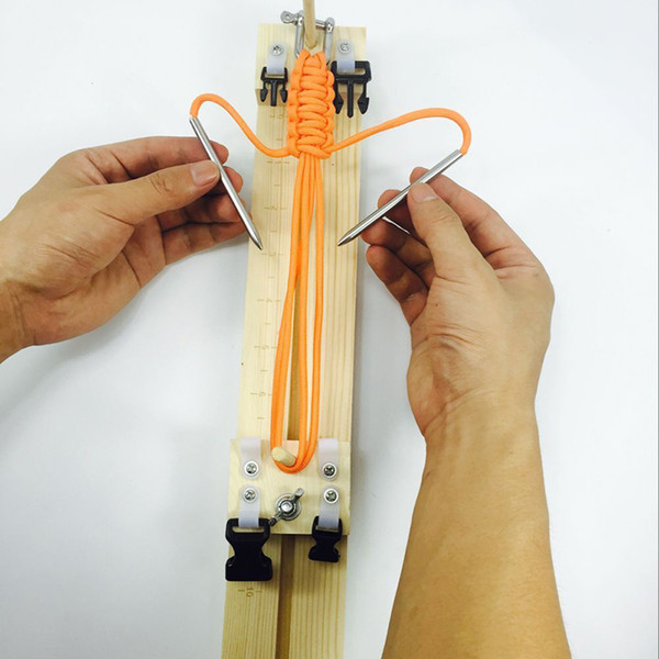 Bracelet Knitting Tool Wristband Knitting Tool DIY Wood Paracord Jig Bracelet Maker Wristband Maker FT68