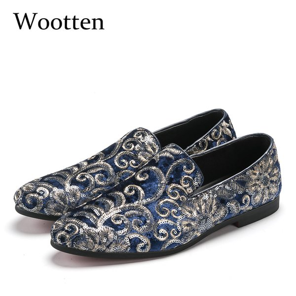 plus size loafers glitter dress luxury social designer driving adult fashion mens shoes casual #107