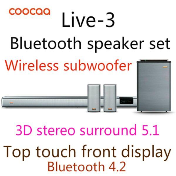 Großhandel Coocaa Live 3 Heimkino Wohnzimmer Audio Echo Wand Wireless  Subwoofer 3D Stereo Surround 5.1 Wandhalterung Bluetooth Lautsprecher Home  Kit ...