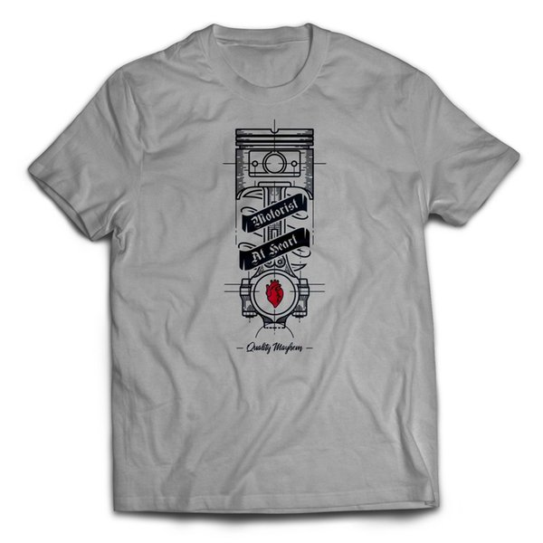 MOTORISTA DE PISTON EN HEART CAR GUY CAMISETA