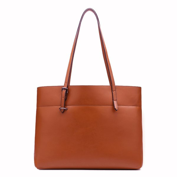 Exotic2019 Will China Dual Color Oil Wax Cowhide Genuine Leather Woman Bale Ma'am Single Shoulder Package Trend Bag Guangzhou