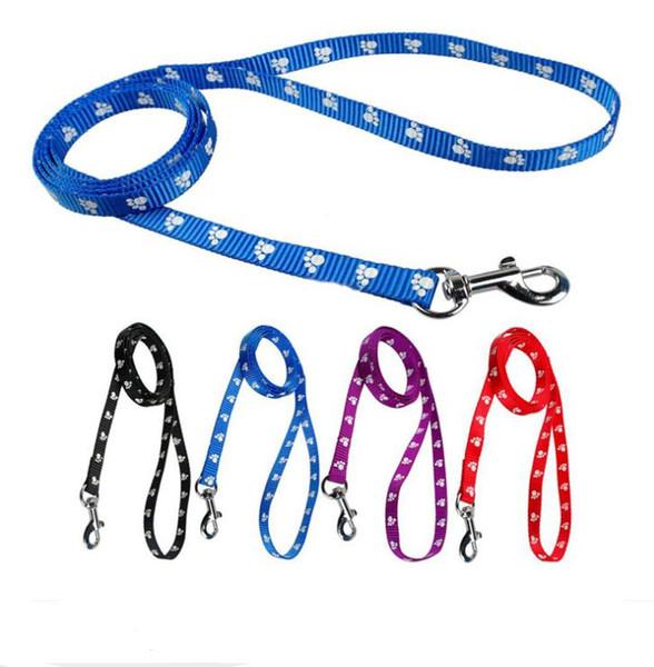 top popular 120cm Long High Quality Nylon Dog Pet Leash Lead for Daily Walking 1.0cm 1.5cm 2.0cm 4 Colors SN3234 2020