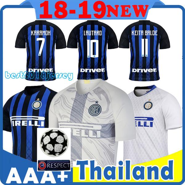 Inter Trikot Inter Home Thai Qualität 18 19 Top Trikots 10 Lautaro Trikot 9 Icardi Trikot 14 Nainggolan 16 Politano 44 Perisic