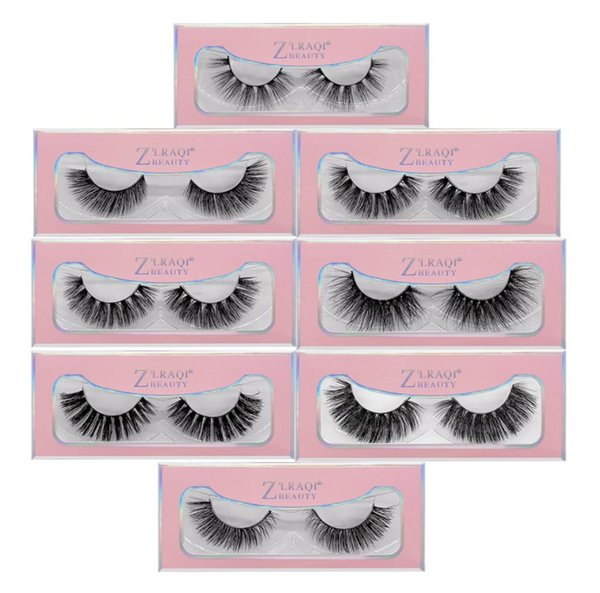 Factory Direct DHL Free Shipping New 3D Mink Eyelashes Eye makeup Mink False lashes Soft Natural Thick Fake Eyelashes Extension happy-mei8