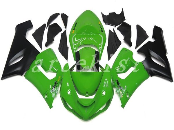 New ABS Fairing kits fit for 05 06 ZX 6R 636 2005 2006 kawasaki Ninja ZX6R ZX636 600cc ABS fairings Bodywork set Nice green black