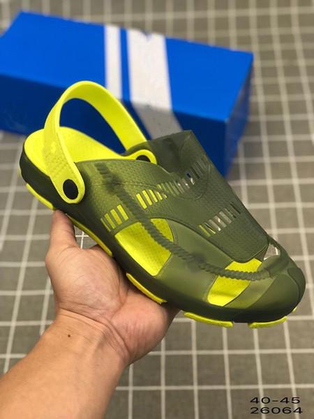 2019 Summer Beach Super Star 4G Zapatilla SnoN-Slip sandalias inferiores suaves de alta calidad para hombre Aire libre Rainy Season sandalias Tamaño 40-45